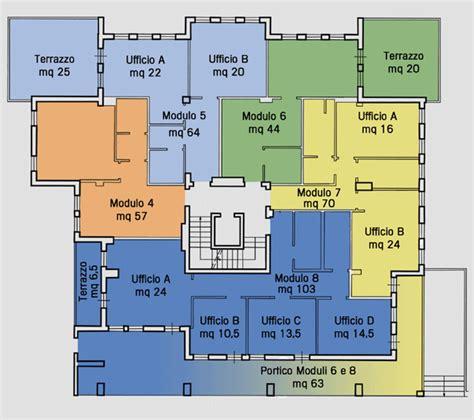 Pianta Casa palazzo del bargello centro uffici residence e relais