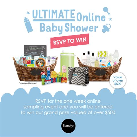 Free Baby Giveaways Online - ultimate online baby shower with sler free sles and