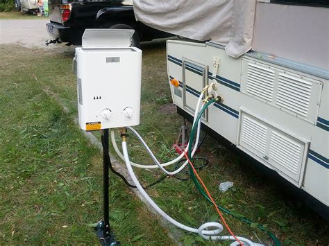 popup cer hot water heater system portable on demand