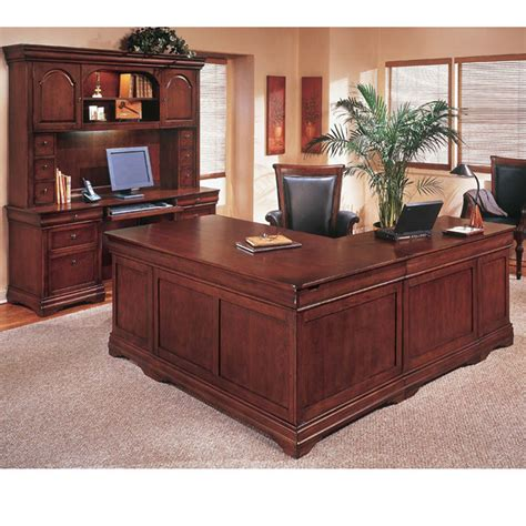 executive office furniture set keswick cherry executive l shape desk left handed
