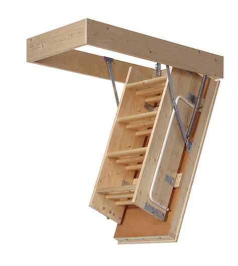Wooden Loft Ladder With Handrail Timber Loft Ladders 3 Section Midmade Lex 70