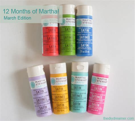 12 months of martha march supplies the d i y dreamer