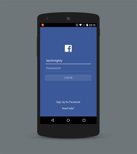 facebook login layout android studio facebook