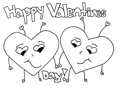 Coloring Pages For Valentines Day Printable Free Printable Valentine Coloring Pages For Kids