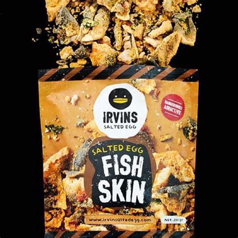 Irvin Salted Egg Fish Skin irvin s salted egg potato chips fish skins food