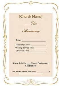 Church Invitation Templates by Church Anniversary Ideas