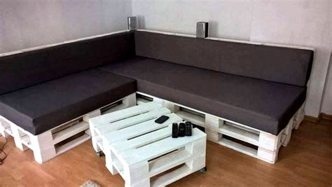 diy couch pallet diy black white pallet sectional sofa set 101 pallets