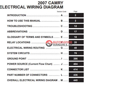toyota camry 2007 ewd electrical wiring diagram free