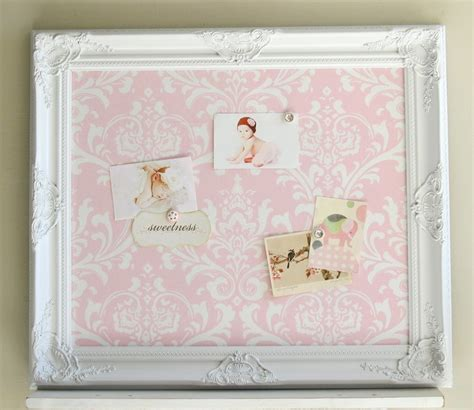 magnet board framed magnetic board shabby chic pink damask