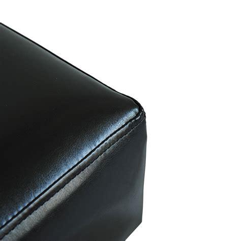 small black leather ottoman homcom small ottoman footrest pu leather footstool