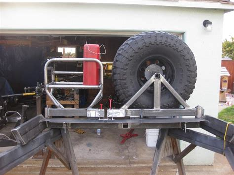 diy swing away tire carrier just built rear bumper swing out tire carrier page 5