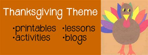 Thanksgiving Activities, Lessons, and Printables   A to Z Teacher Stuff Themes