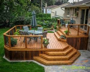 deck s 25 best ideas about two level deck on