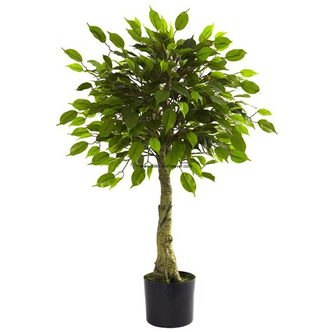 3 uv resistant outdoor artificial ficus tree w pot 504