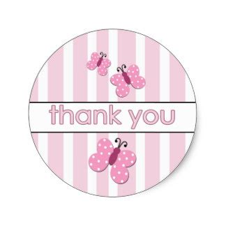 Thank You Stickers For Baby Shower by Baby Shower Thank You Stickers Zazzle
