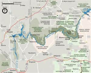 arizona map with grand grand national park tuweep area