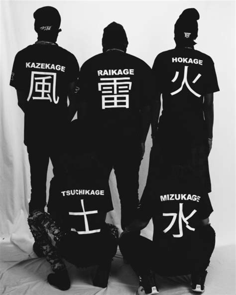 shirt t shirt menswear japanese fashion anime t shirt hokage raikage kazekage