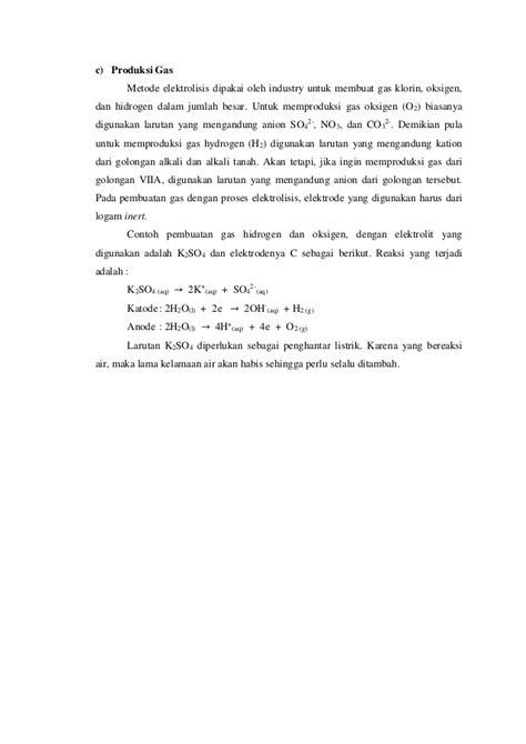 makalah membuat larutan makalah elektrolisis