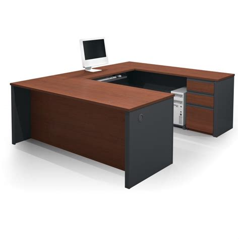 Creative Design Of U Shaped Desk For Home Office Homesfeed Small U Shaped Desk