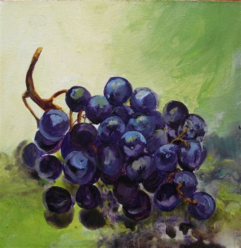 acrylic painting grapes watercolor paintings by jdmstudios not sour grapes