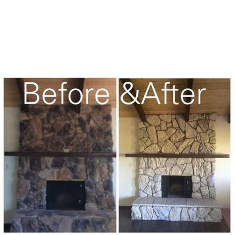 17 best ideas about painted rock fireplaces on