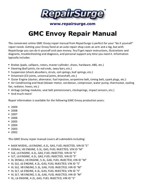 service and repair manuals 2003 gmc envoy free book repair manuals 28 2002 gmc envoy service manual free 74835 2002 2008 gmc envoy gallery chevy trailblazer