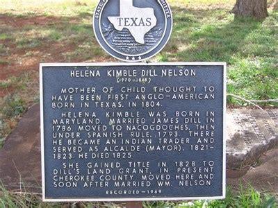 Helena Kimble Dill Nelson - Texas Historical Markers on ... Helena Tx History