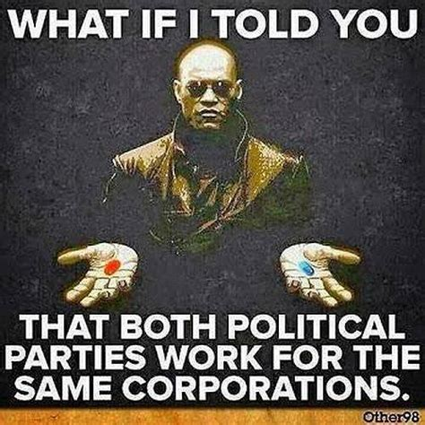 No Same matrix pill blue pill both political same