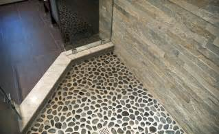 river rock tile sheets homesfeed - Tile Sheets For Bathroom Floor