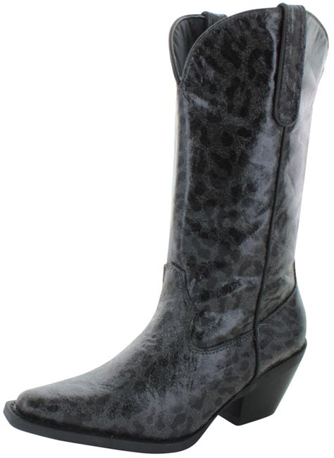 womens leopard boots nomad sunline s western cowboy boots leopard animal