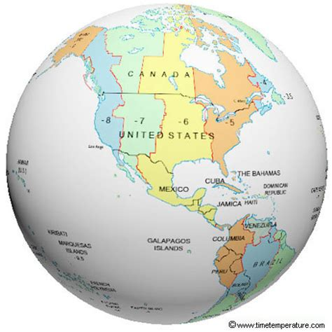 usa map in globe united states time zone globe