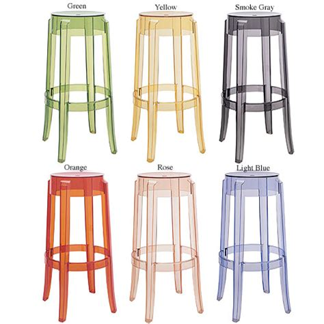 Kartell Bar Stool by Kartell Charles Ghost Bar Stool By Philippe Starck