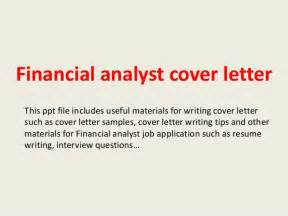 Senior Financial Analyst Cover Letter by Financial Analyst Cover Letter