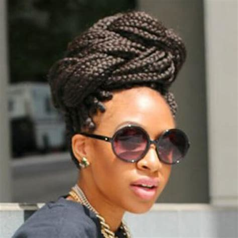 large bun with braid 50 glamorous ways to rock box braids hair motive hair motive