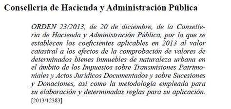nuevo mtodo de valoracin en la comunidad valenciana generalitat valenciana orden 23 2013 de 20 de diciembre