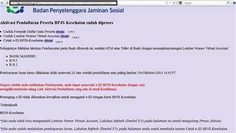 format daftar isian peserta bpjs pengalaman mendaftar bpjs mandiri online dan penggunaannya