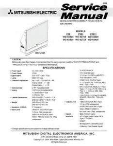 Mitsubishi Dlp Manual Mitsubishi Tv Wd 65737 Service Manual Diarap
