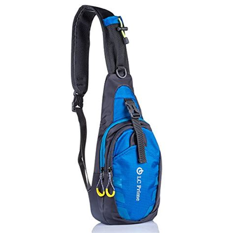 Lc Fantasie Sling 1 lc prime 174 chest bag shoulder sling unbalance backpack satchel outdoor travel bike blue