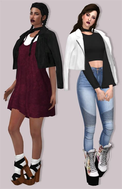 Top 10 Home Decor Websites by Lumysims Leather Jacket Accessory Sims 4 Downloads