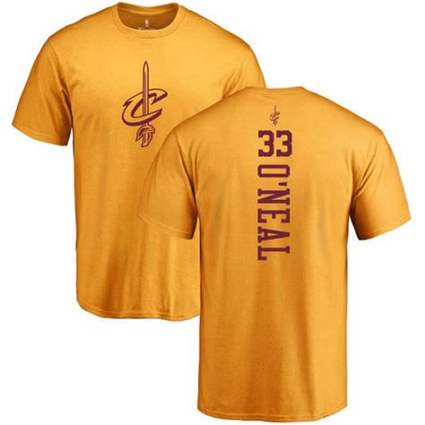 T Shirt One 33 33 nike shaquille o neal gold nba one color backer