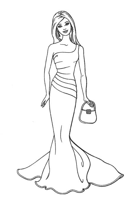 barbie fashion coloring page only coloring pages