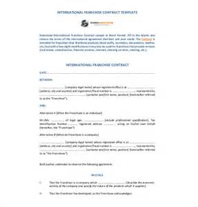 franchise agreement template 10 free word pdf