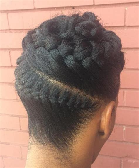 Braid Updo Hairstyles For Black Hair by 50 Updo Hairstyles For Black Ranging From To