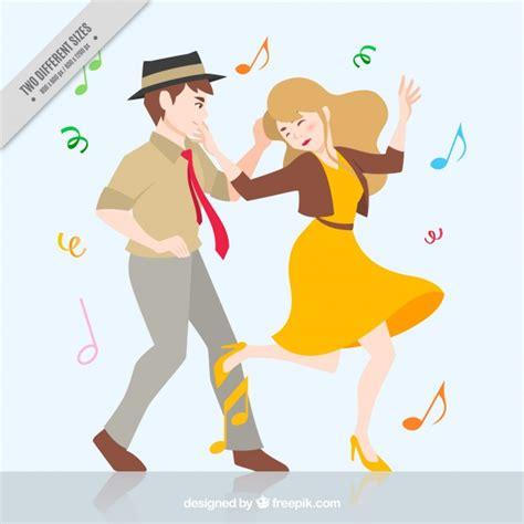 imagenes animadas bailando fondo de divertida pareja bailando descargar vectores gratis