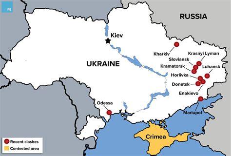map ukraine conflict fighting escalates in eastern ukraine