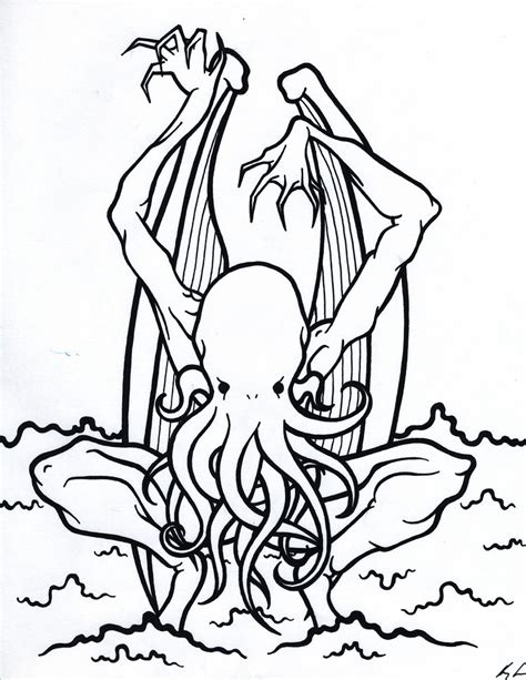 coloring book cthulhu by ooogidy boogidy ink on deviantart