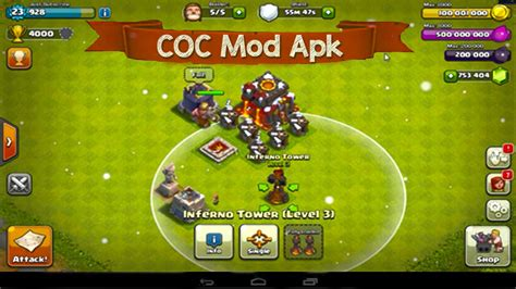 moded apk clash of clans mod apk v8 332 16 playstore