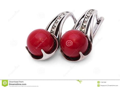 red coral decor stock images image 4448644 silver earrings with red coral isolated stock photography