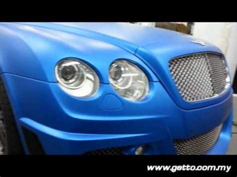 matte blue bentley bentley gt matte blue metallic wrap