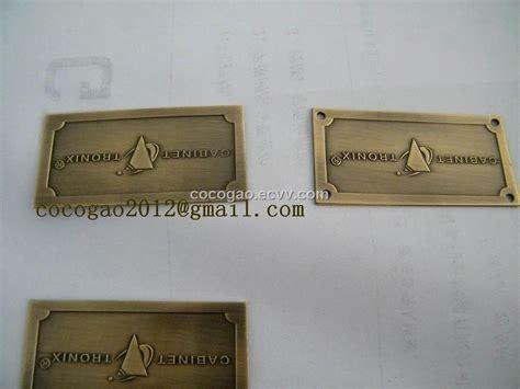 tag furniture brass tag metal logo furniture 28 images furniture label aluminum name plate
